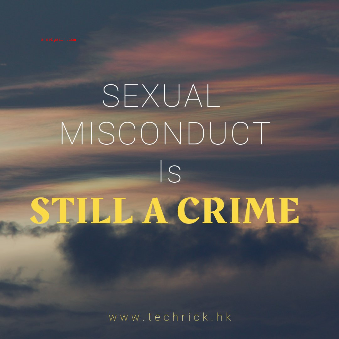 """Sexual Misconduct"" is a misleading term"