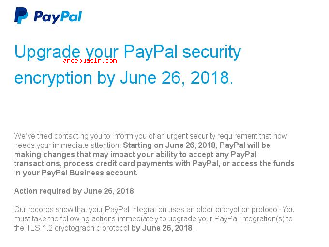Paypal-doesnt-support-tls1.2