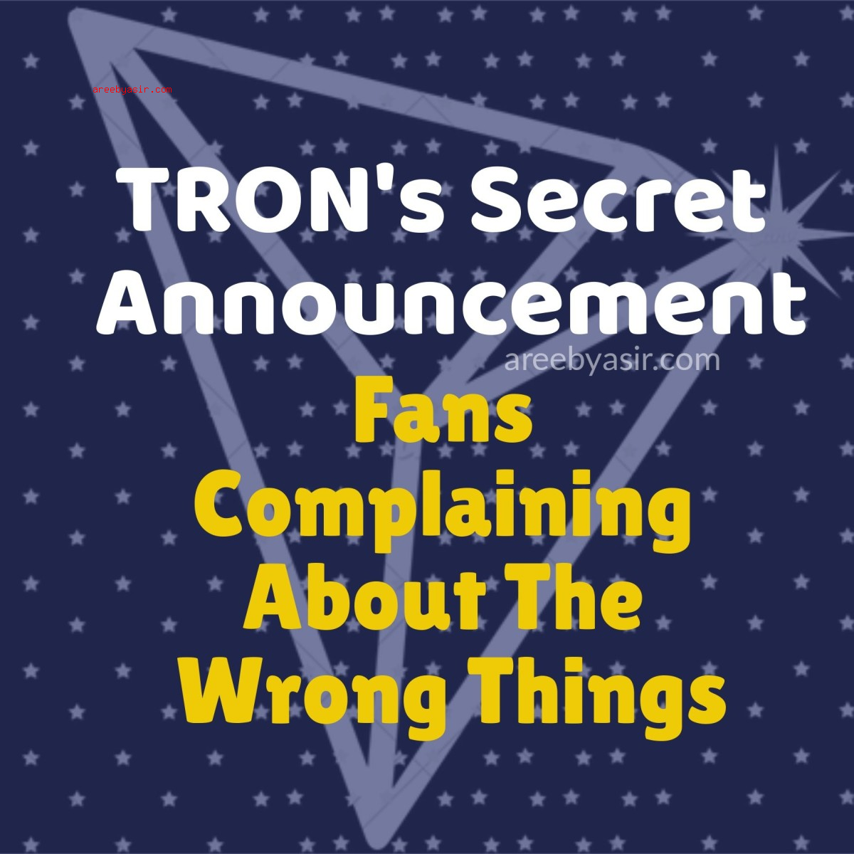 Trons Disappointed Fans
