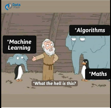 Machine Learning is about math and algorithms.