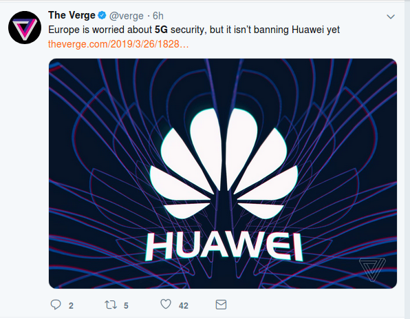 Don't worry about Huawei 5G being a national security risk, the US does far more serious spying, worry about your health